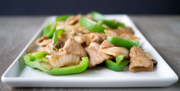 Featured Stir-Fried Pork and Onion 01