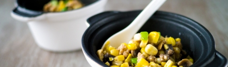 Featured Turkey, Corn and Mushroom Niblets 02